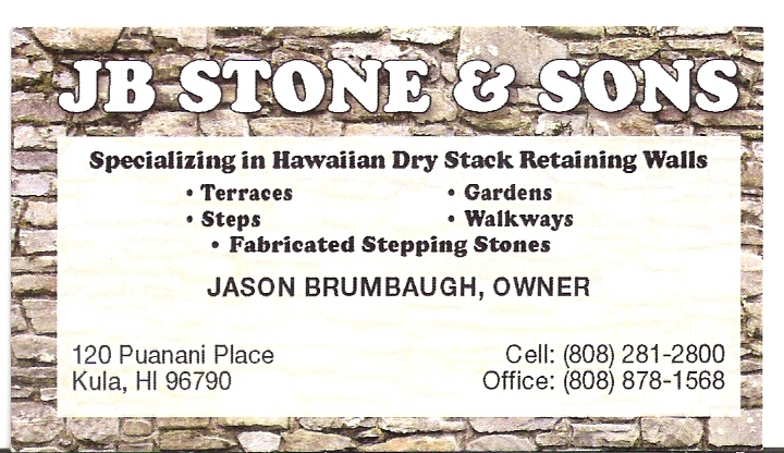 JB STONE And Sons - Hawaiian Dry Stack Stone Retaining Walls