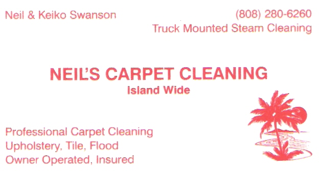 Neil's Carpet Cleaning - Maui