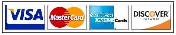 We Accept Visa, Mastercard, Discover and American<br />         Express